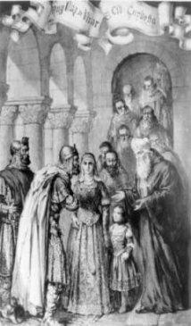 Despedida del Cid a Doña Jimena en este Monasterio